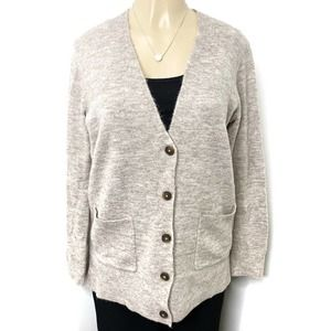 OLD NAVY Marled Button Down Cardigan Tan S